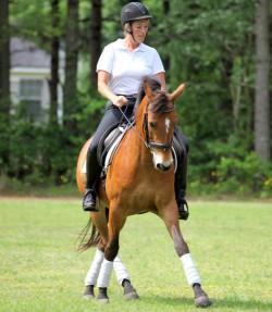 Kendra riding Danny