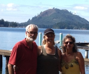 Dad and Kathy and I at Lake Cavanaugh, WA 2013